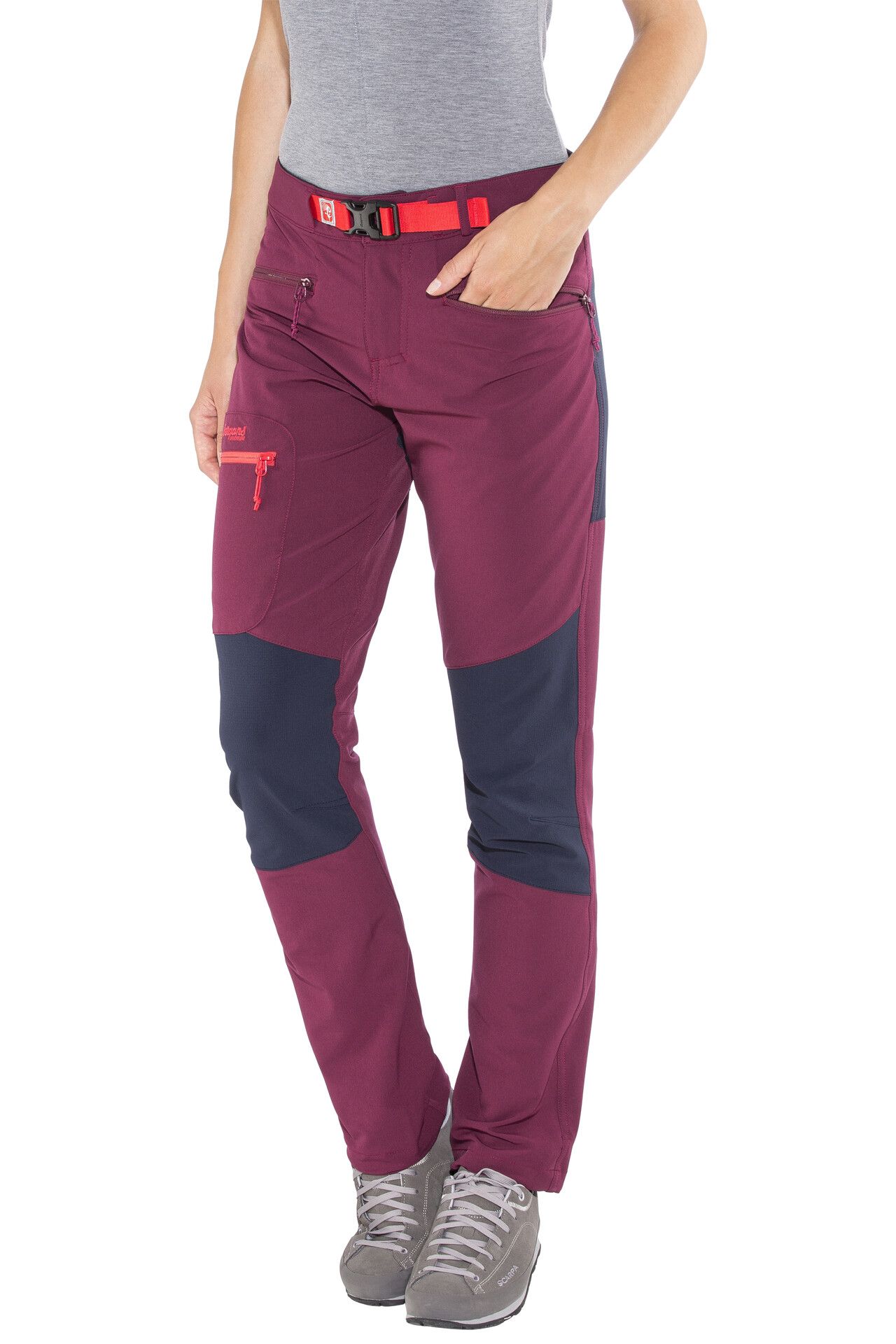Bergans Cecilie Mountaineering Pants Women dark cherrynavystrawberry